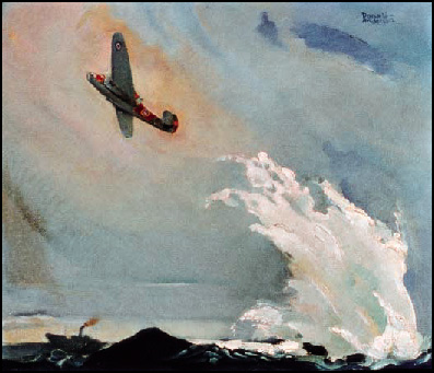Beufort Dropping Depth Charge Second World War painting