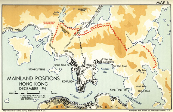 Canadian military journal vol 11 no 3 map of mainland positions hong kong december 1941 gumiabroncs Gallery