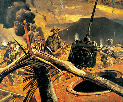 Painting The Hitler Line, 1944, by Charles Comfort