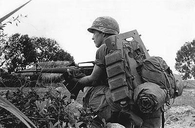 American soldier in Vietnam