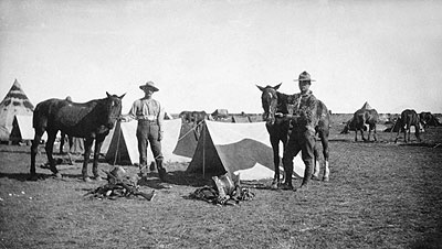 North West Mounted Police Symbol Drawing Soldiers in South Africa