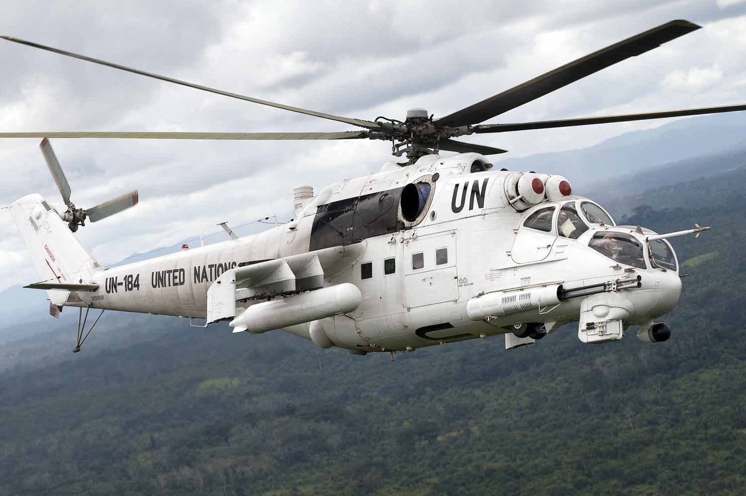 UN helicopter