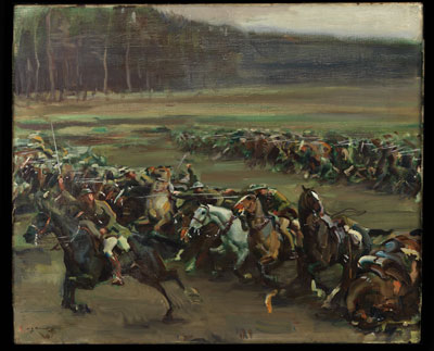 Charge of Flowerdew's Squadron, Lord Strathcona's Horse (Royal Canadians), Moreuil Wood, 30 March 1918, by Sir Alfred Munnings.